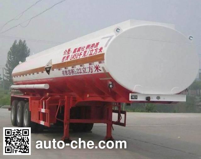 齐鲁中亚牌DEZ9402GFW腐蚀性物品罐式运输半挂车