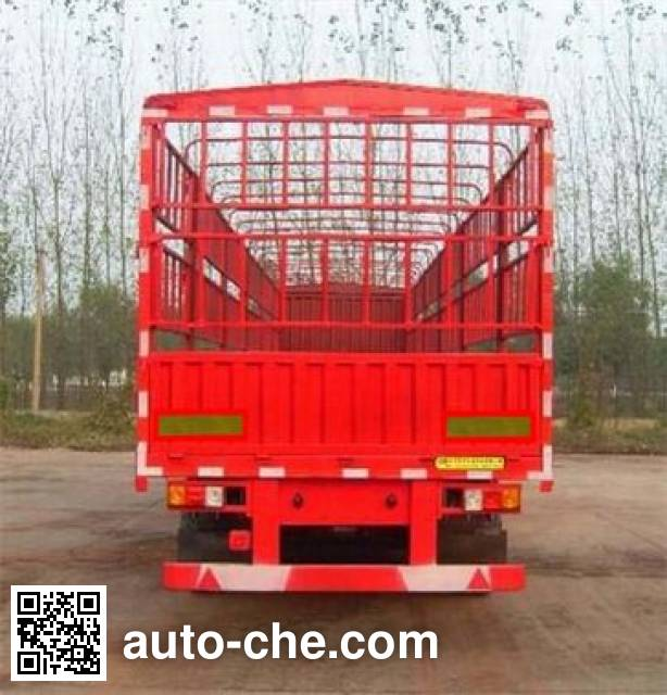 齐鲁中亚牌DEZ9401CCY仓栅式运输半挂车