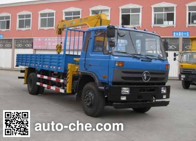 特商牌DFE5161JSQF随车起重运输车