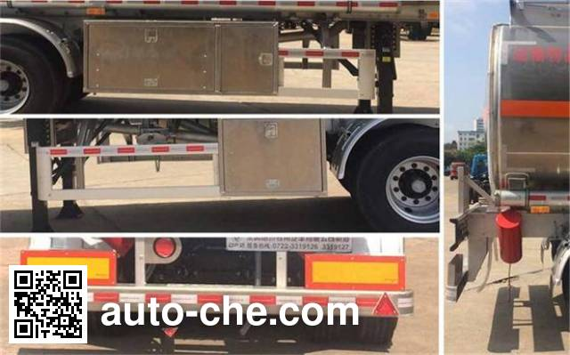 Dongfeng DFZ9352GYY aluminium oil tank trailer