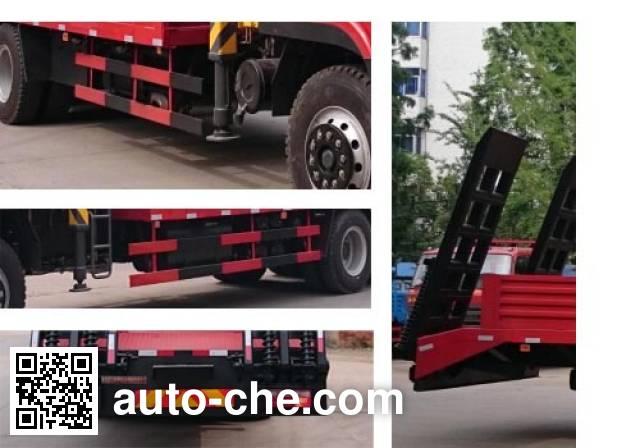大力牌DLQ5250JSQX4随车起重运输车