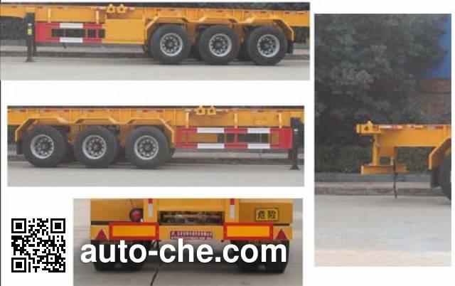 Teyun DTA9405TWY dangerous goods tank container skeletal trailer