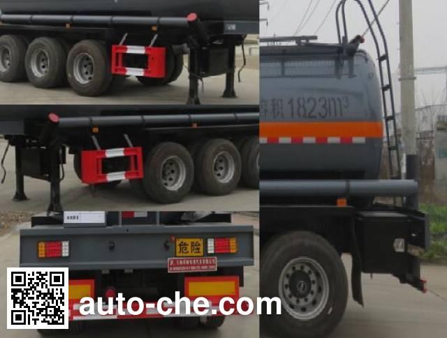 Teyun DTA9406GFWB corrosive materials transport tank trailer