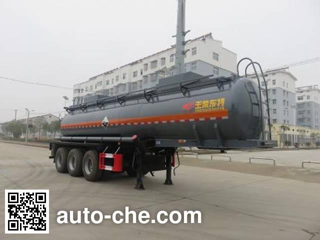 特运牌DTA9408GFWC腐蚀性物品罐式运输半挂车