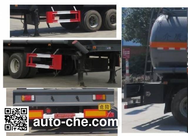 特运牌DTA9407GFWC腐蚀性物品罐式运输半挂车