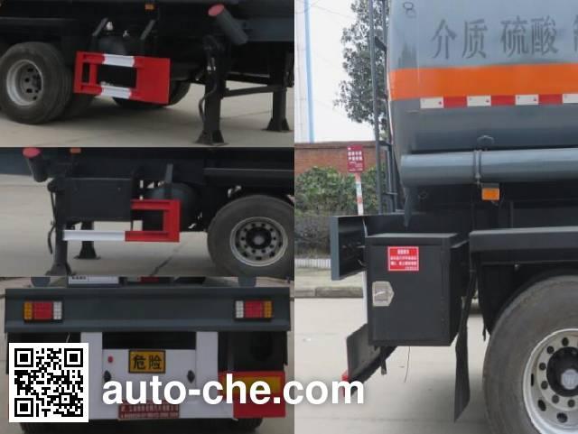 特运牌DTA9408GFW腐蚀性物品罐式运输半挂车