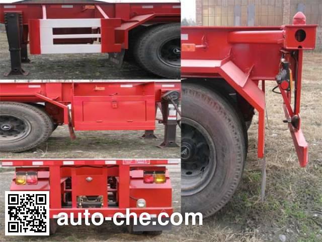 大运牌DYX9400P374A集装箱运输半挂车
