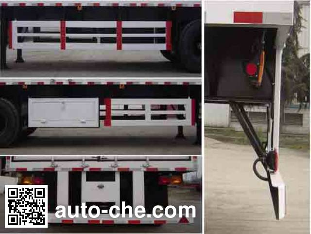 Dayun DYX9390X380A box body van trailer