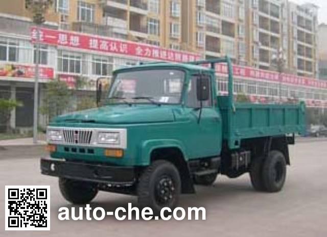 华川牌DZ2810CDT自卸低速货车