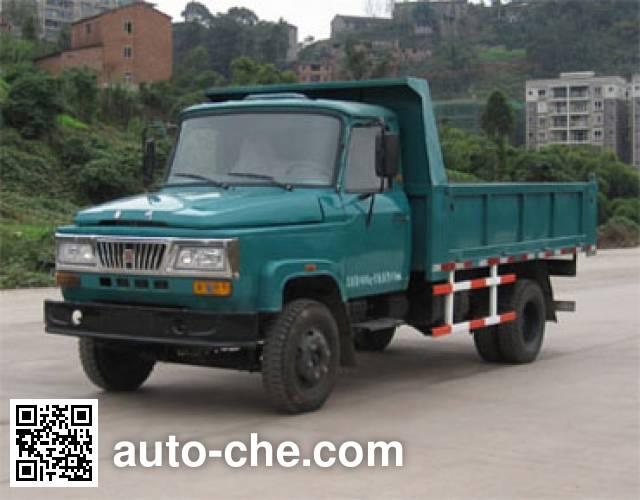 华川牌DZ4015CD3T自卸低速货车
