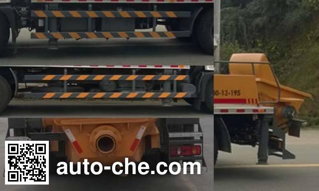东风牌EQ5120THBT车载式混凝土泵车