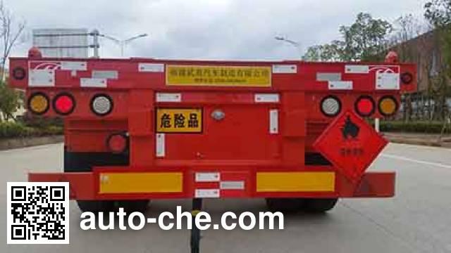 Wuyi FJG9401TWY dangerous goods tank container skeletal trailer