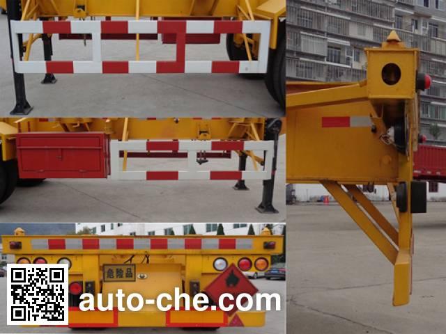 Wuyi FJG9405TWY dangerous goods tank container skeletal trailer