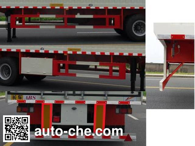 FAW Fenghuang FXC9350XXY box body van trailer