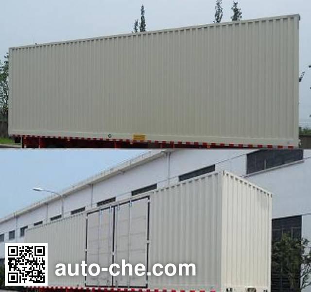 FAW Fenghuang FXC9380XXY box body van trailer