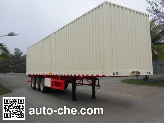 FAW Fenghuang FXC9401XXY box body van trailer
