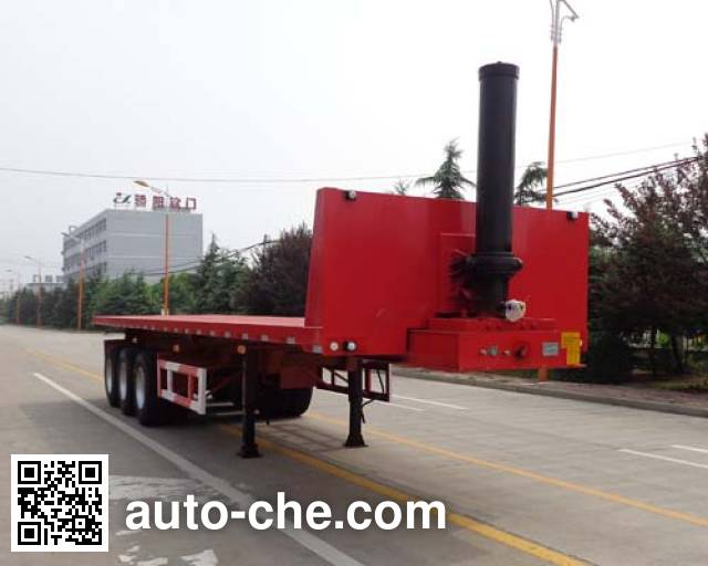 Fengyuan Zhongba FYK9401ZZXP flatbed dump trailer