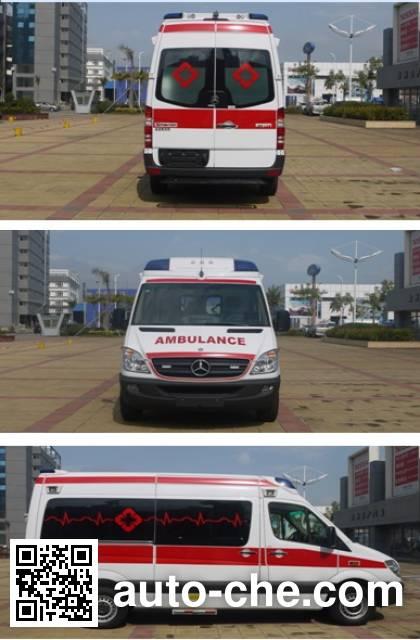 广通客车牌GPY5041XJHSHTB0救护车