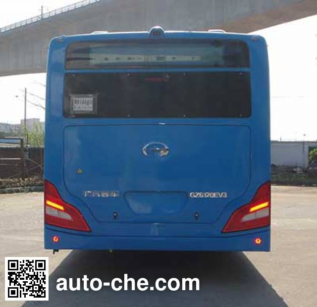 GAC GZ6120EV3 electric city bus