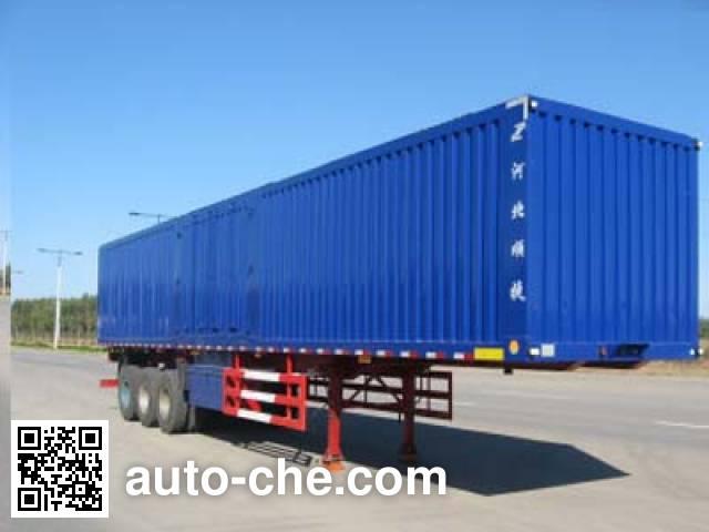 Chuanteng HBS9390XXY box body van trailer