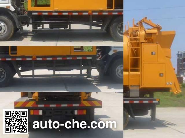 华通牌HCQ5120THBEQ5车载式混凝土泵车