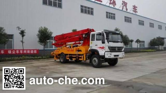 华通牌HCQ5161THBZ混凝土泵车