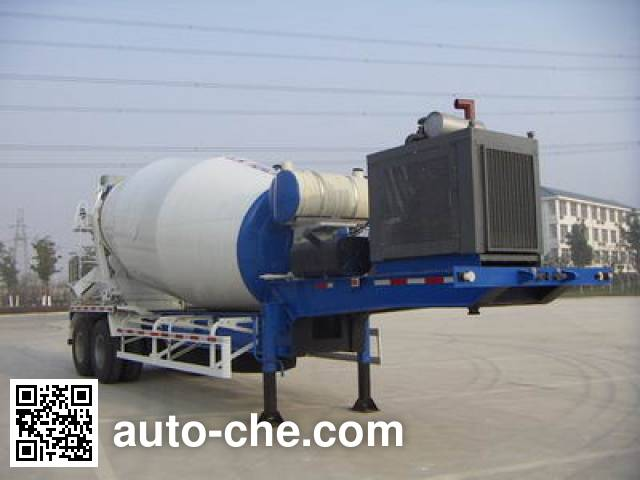华建牌HDJ9330GJB混凝土搅拌运输半挂车