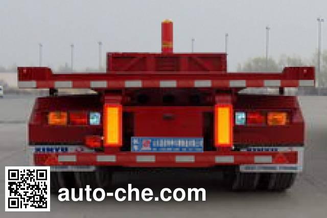 恩信事业牌HEX9351ZZXP平板自卸半挂车