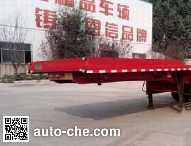 恩信事业牌HEX9402ZZXPE平板自卸半挂车