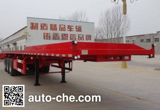 恩信事业牌HEX9403ZZXPE平板自卸半挂车