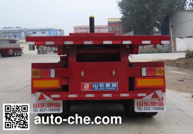恩信事业牌HEX9404ZZXP平板自卸半挂车