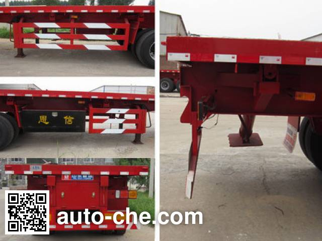 恩信事业牌HEX9405ZZXP平板自卸半挂车