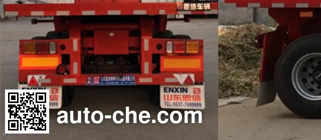 恩信事业牌HEX9407ZZXP平板自卸半挂车