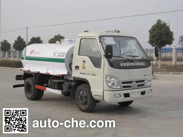 Foton Auman HFV5041GXWBJ rural biogas digesters sewage suction truck