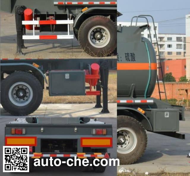 Foton Auman HFV9400GFW corrosive materials transport tank trailer