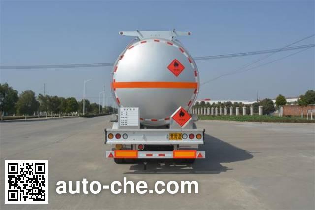 Foton Auman HFV9400GRYA flammable liquid aluminum tank trailer