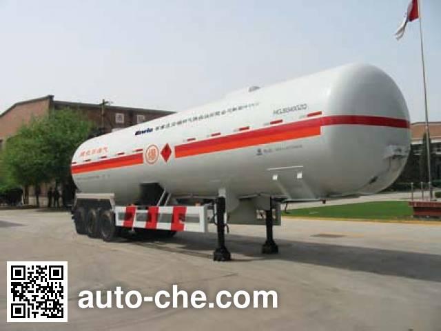 安瑞科(Enric)牌HGJ9350GZQ永久气体运输半挂车
