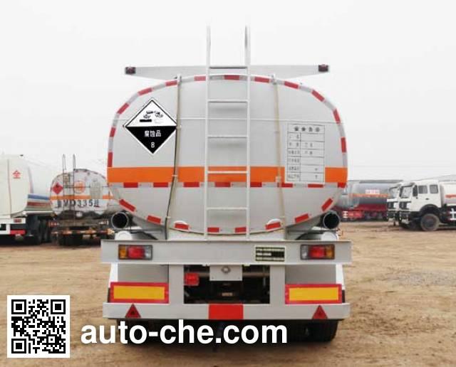 Zhengkang Hongtai HHT9400GFW corrosive materials transport tank trailer