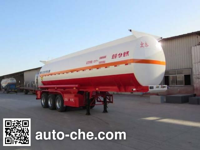 Zhengkang Hongtai HHT9401GFWA corrosive materials transport tank trailer