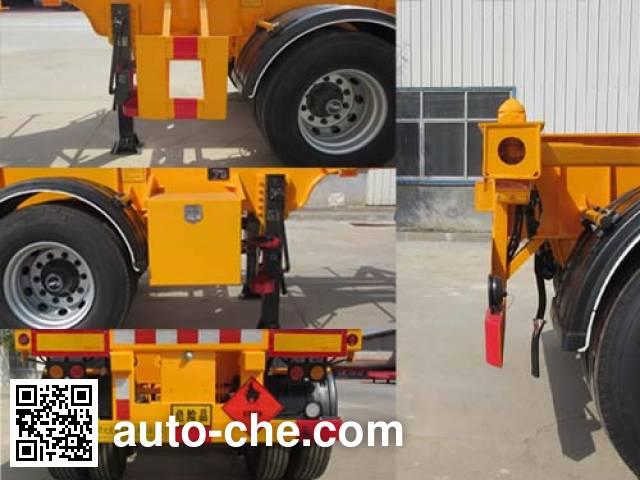 Zhengkang Hongtai HHT9402TWY dangerous goods tank container skeletal trailer