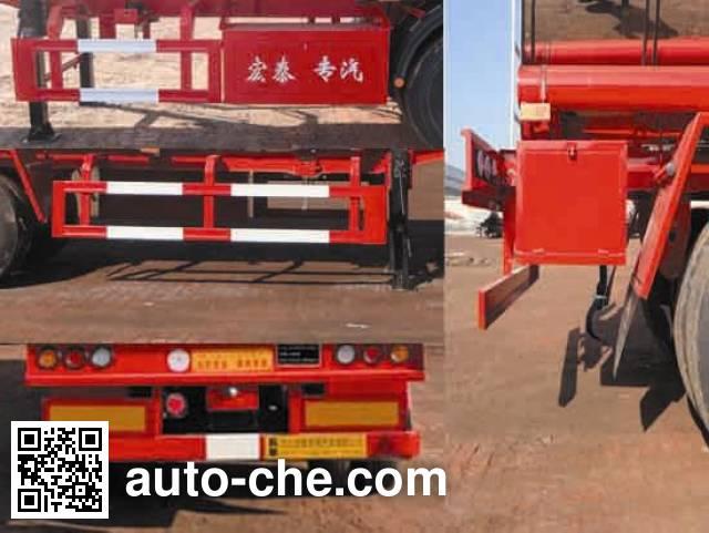 Zhengkang Hongtai HHT9404GRYA flammable liquid aluminum tank trailer
