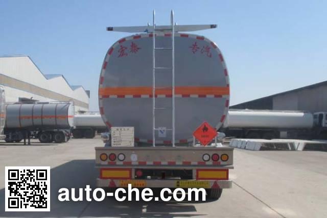 Zhengkang Hongtai HHT9404GRYB flammable liquid aluminum tank trailer