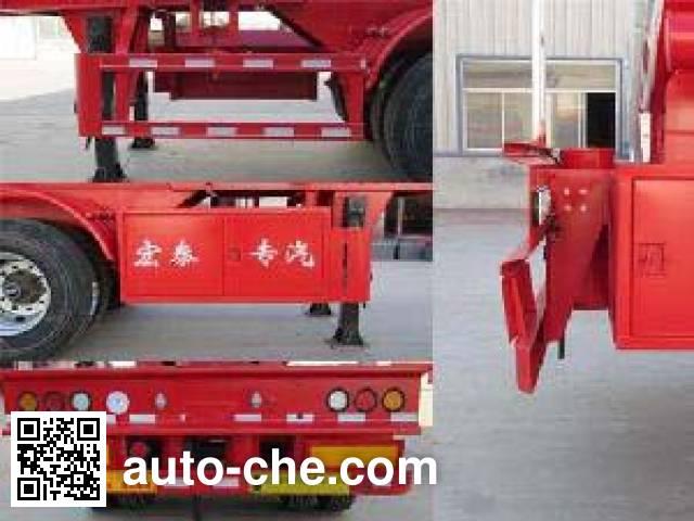 Zhengkang Hongtai HHT9405GFW corrosive materials transport tank trailer