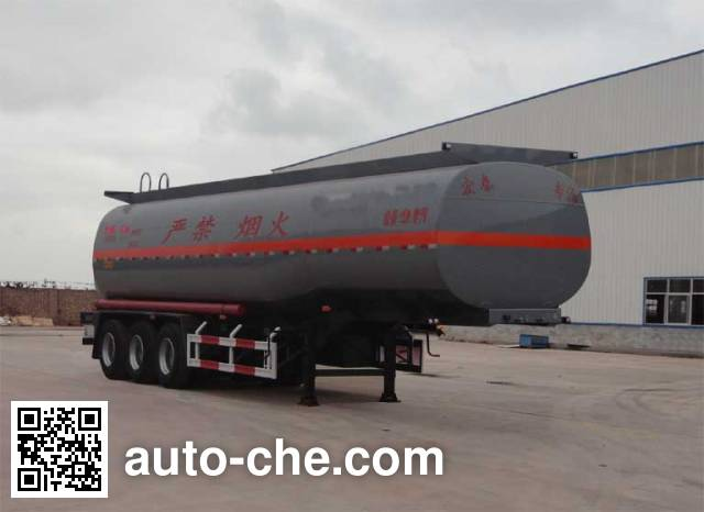 Zhengkang Hongtai HHT9405GRY flammable liquid tank trailer