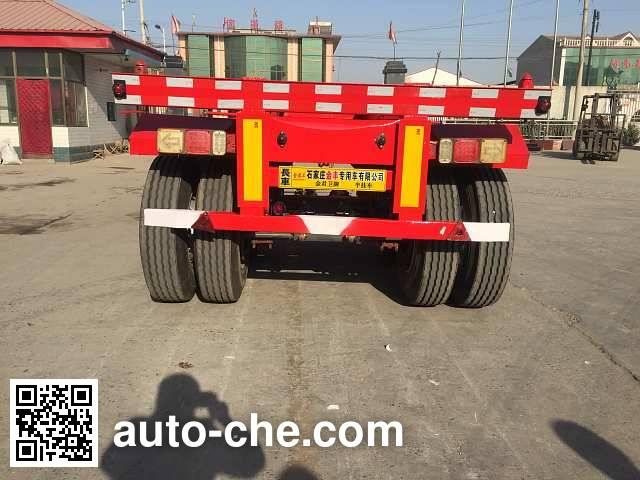 Jinjunwei HJF9350TJZ container transport trailer
