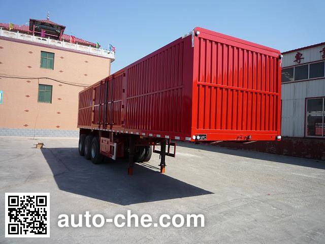 Jinjunwei HJF9400XXY box body van trailer