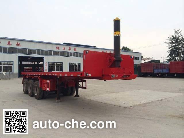 Jinjunwei HJF9400ZZXP flatbed dump trailer