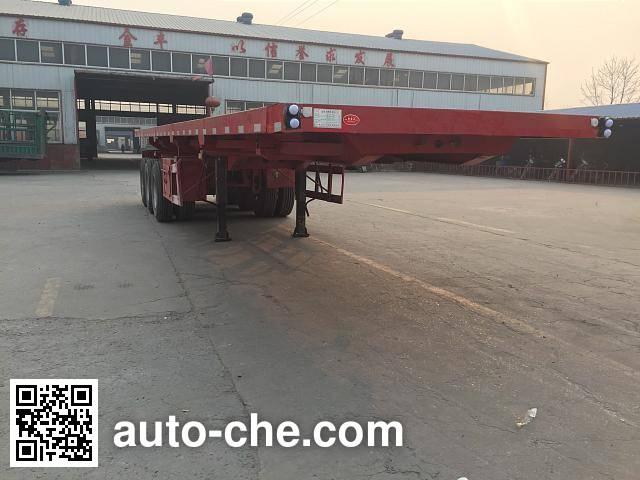 Jinjunwei HJF9401ZZXP flatbed dump trailer