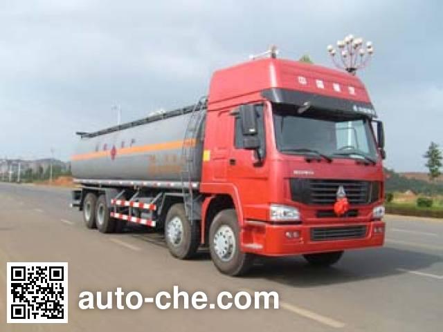 Qierfu HJH5317GHYZ chemical liquid tank truck