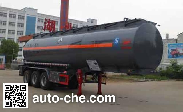 Zhongqi Liwei HLW9404GFW corrosive materials transport tank trailer